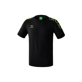 Erima Graffic 5-C T-Shirt Basic Kids schwarz-green gecko 116