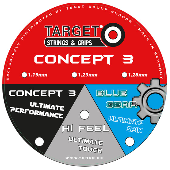 Target Concept 3 Blue Gear blau 12m-Set