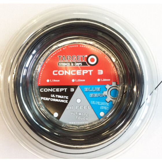 Target Concept 3 Blue Gear schwarz 200m-Rolle