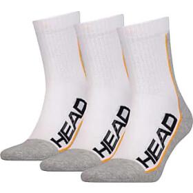 Head Stripe Crew Socks 3P Unisex white/grey