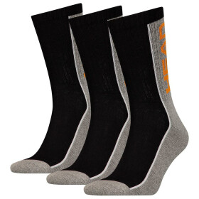 Head Stripe Crew Socks 3P Unisex grey/black